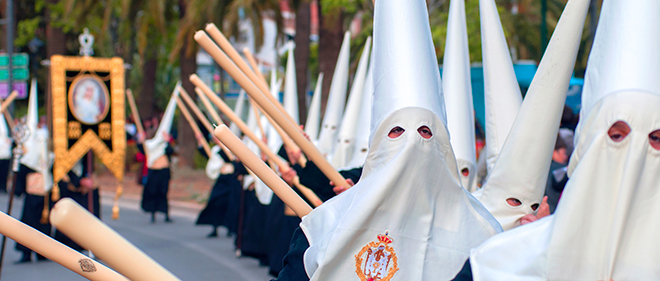 Semana Santa is a massive event in the Andalucian calendar. As the processions move through the streets, the air is heavy with incense and filled with music as the crowd lament the suffering and death of Christ.