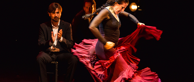 A true Flamenco performance combines Toque, Cante y Baile (guitar, song and dance) in a show that is packed with emotional intensity!
