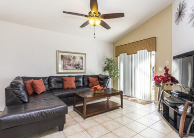 The living area at Villa Carter, Aviana Resort, Davenport, Florida