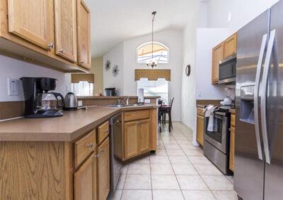 The kitchen at Villa Carter, Aviana Resort, Davenport, Florida