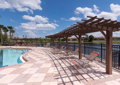 The swimming pool at Aviana Resort, Davenport, Florida